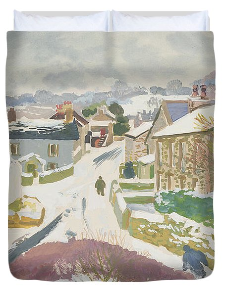 Barbon In The Snow Duvet Cover by Stephen Harris