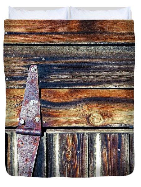 barn door Duvet Cover by Wayne Sherriff