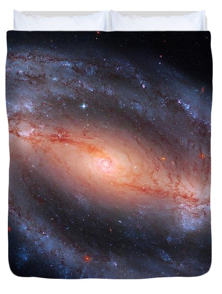 Barred Spiral Galaxy Ngc 1300 Duvet Cover by Don Hammond