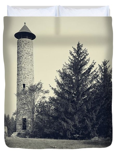 Bartlett Tower Dartmouth College Hanover Nh Duvet Cover by Edward Fielding