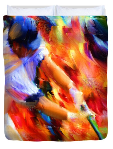 Baseball IIi Duvet Cover by Lourry Legarde