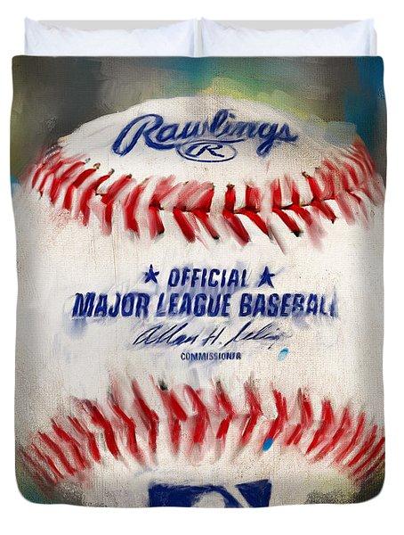 Baseball Iv Duvet Cover by Lourry Legarde