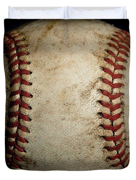 Baseball Seams Duvet Cover by David Patterson