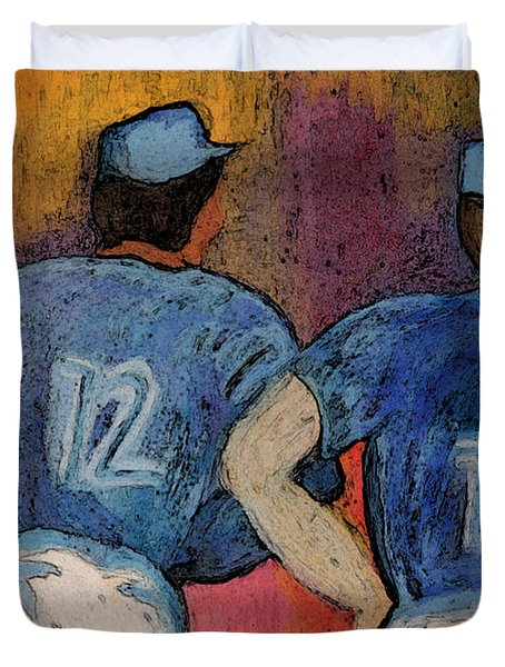 Baseball Team by jrr  Duvet Cover by First Star Art