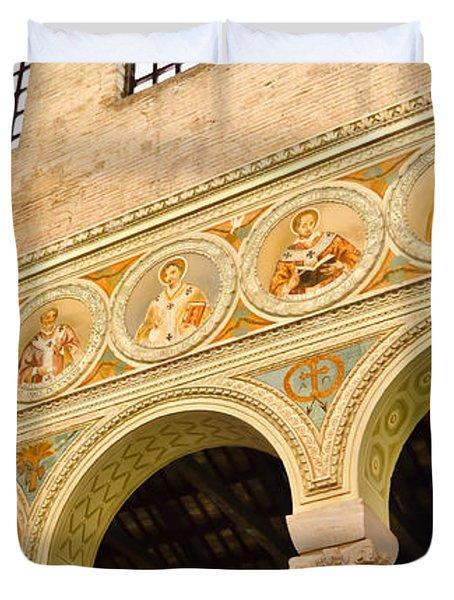 Basilica di Sant' Apollinare Nuovo - Ravenna Italy Duvet Cover by Jon Berghoff