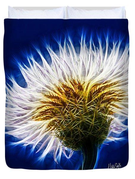 Basket Flower Inner Beauty Duvet Cover by Nikki Marie Smith