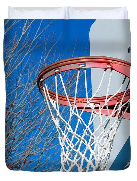 Basketball Net Duvet Cover by Valentino Visentini