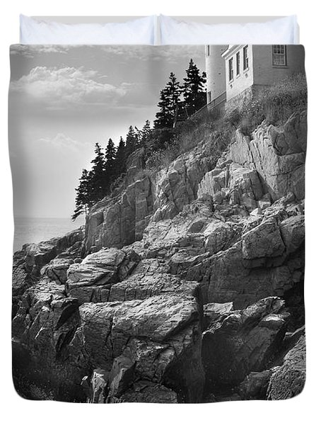 Bass Harbor Light Duvet Cover by Mike McGlothlen