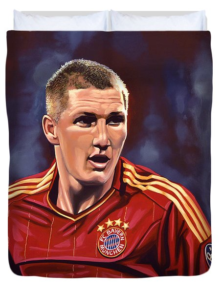 Bastian Schweinsteiger Duvet Cover by Paul  Meijering