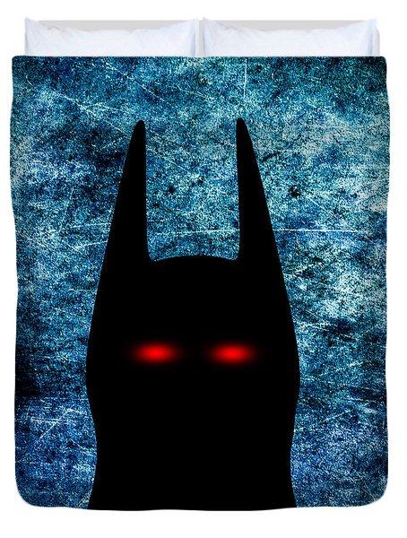 Batman - Dark Knight Number 1 Duvet Cover by Bob Orsillo