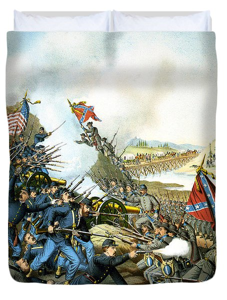 Battle of Franklin Duvet Cover by Unknown