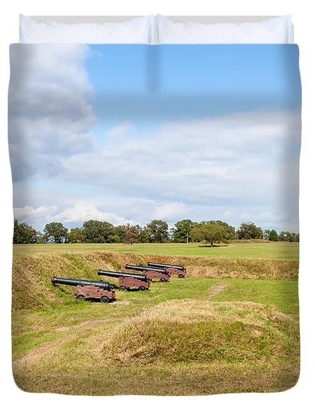 Battle of Yorktown Battlefield Duvet Cover by John Bailey