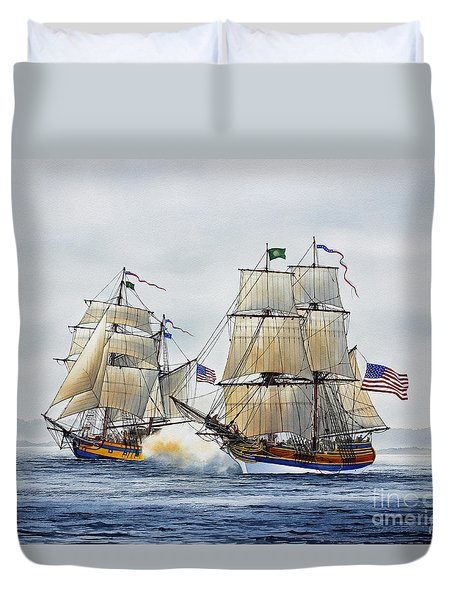 BATTLE SAIL Duvet Cover by James Williamson