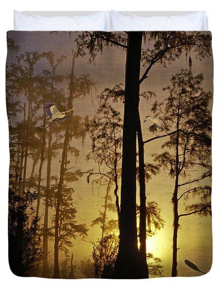Bayou Sunrise Duvet Cover by Lianne Schneider