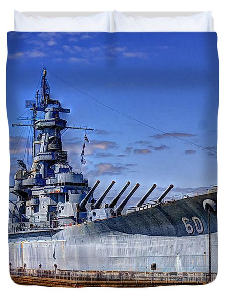 Bb-60 Uss Alabama Duvet Cover by Barry Jones