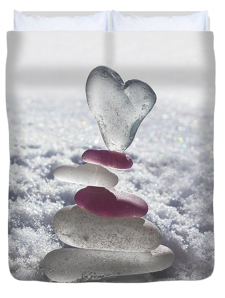 Be Careful With My Heart Duvet Cover by Barbara McMahon