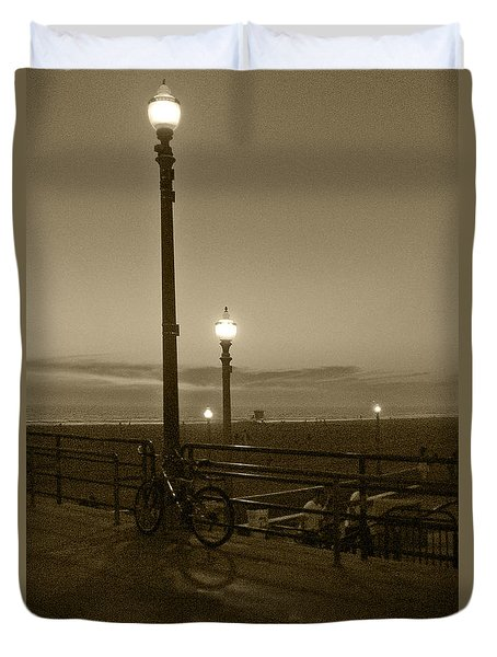 Beach At Night Duvet Cover by Ben and Raisa Gertsberg