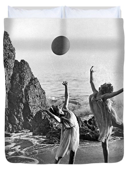 Beach Ball Dancing Duvet Cover by Underwood Archives