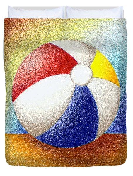 Beach Ball Duvet Cover by Stephanie Troxell