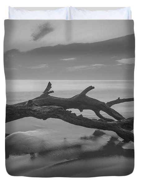 Beach Bones Duvet Cover by Debra and Dave Vanderlaan