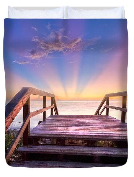 Beach Dreams Duvet Cover by Debra and Dave Vanderlaan
