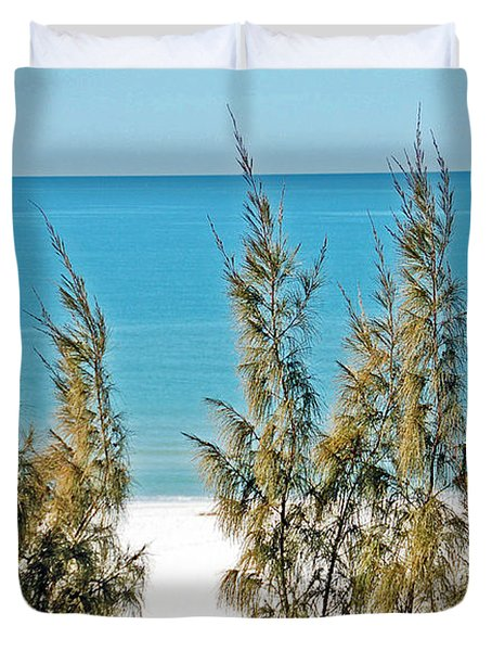 Beach Front View Duvet Cover by Aimee L Maher Photography and Art Visit ALMGallerydotcom
