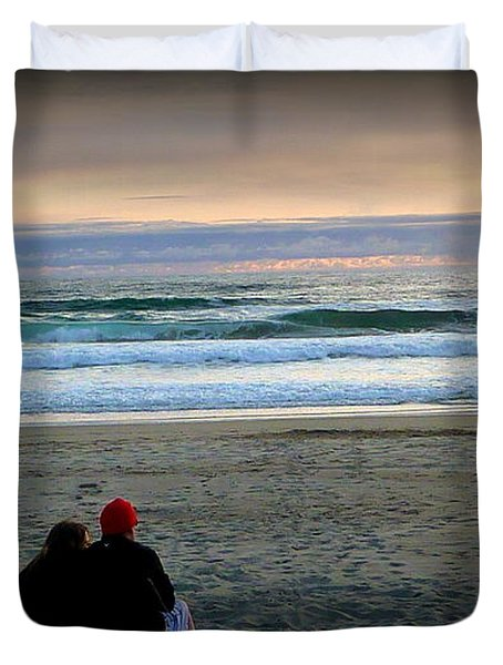 Beach Lovers Duvet Cover by Susan Garren