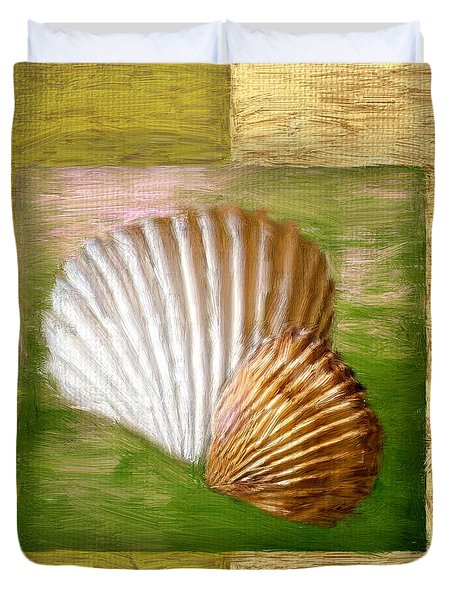 Beach Memoirs Duvet Cover by Lourry Legarde