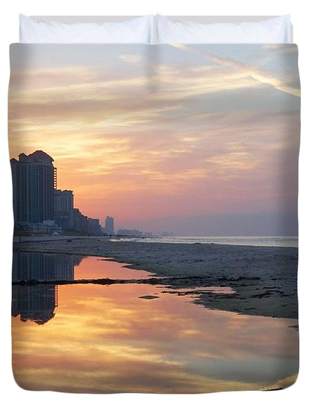 Beach Reflections Duvet Cover by Michael Thomas