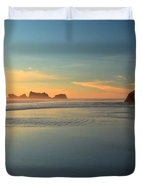 Beach Rudder Duvet Cover by Adam Jewell