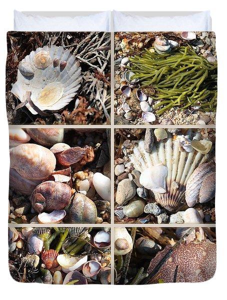 Beach Treasures Duvet Cover by Carol Groenen