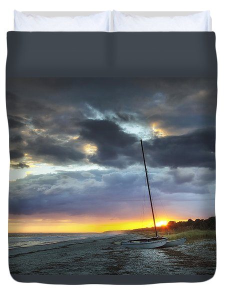 Beached For The Night Duvet Cover by Phill Doherty