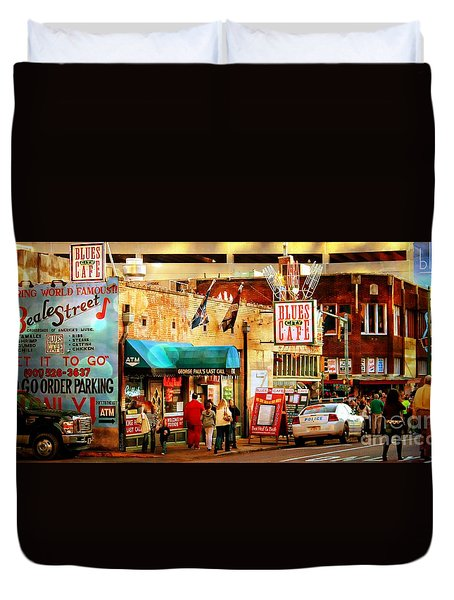 Beale Street Duvet Cover by Barbara Chichester