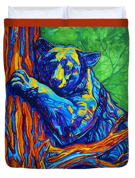 Bear Hug Duvet Cover by Derrick Higgins