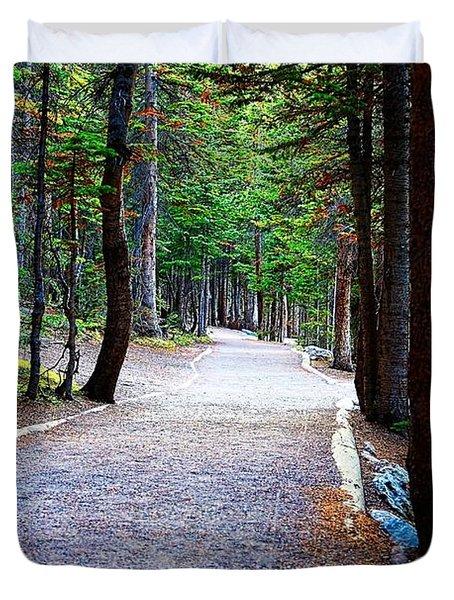 Bear Lake Trail Duvet Cover by Jon Burch Photography