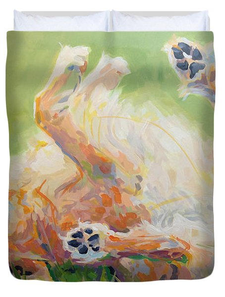 Bears Backscratch Duvet Cover by Kimberly Santini