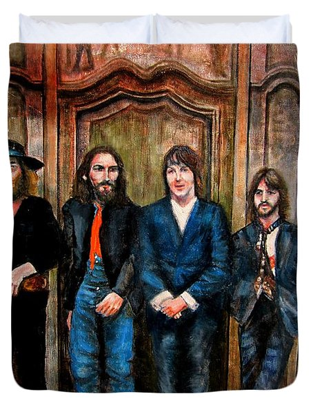Beatles Hey Jude Duvet Cover by Leland Castro