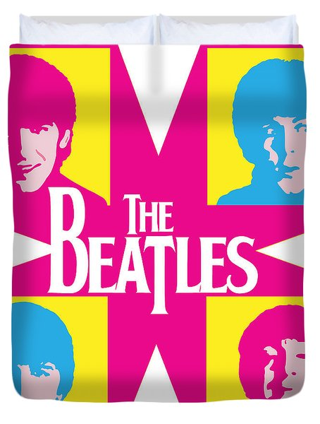 Beatles Vinil Cover Colors Project No.01 Duvet Cover by Caio Caldas