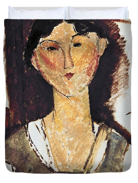 Beatrice Hastings Duvet Cover by Amedeo Modigliani