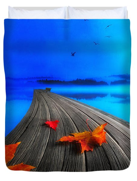Beautiful Autumn Morning Duvet Cover by Veikko Suikkanen