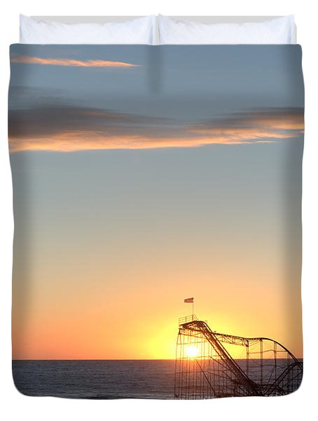 Beautiful Disaster Duvet Cover by Michael Ver Sprill