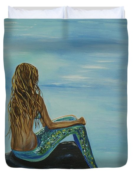 Beautiful Magic Mermaid Duvet Cover by Leslie Allen