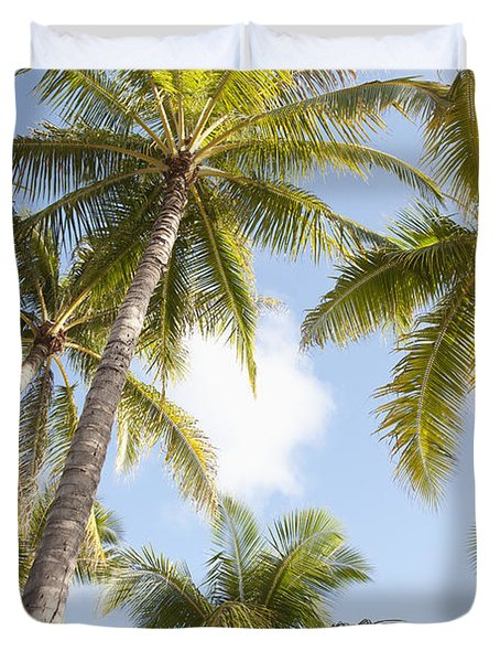 Beautiful Palms Duvet Cover by Brandon Tabiolo