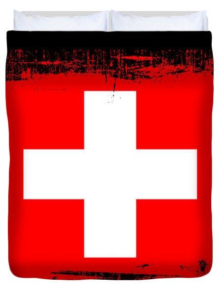 Beautiful Switzerland Flag Duvet Cover by Pamela Johnson