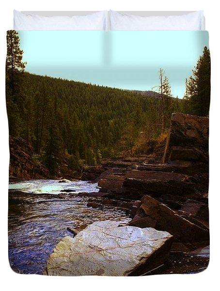 Beautiful Yak River Montana Duvet Cover by Jeff Swan