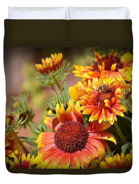 Beauty In The Garden Duvet Cover by Lynn Bauer