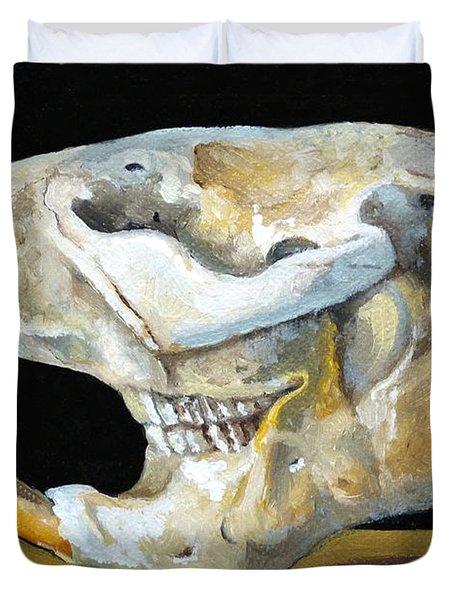 Beaver Skull 1 Duvet Cover by Catherine Twomey