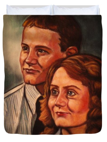 Becky And Ron Yearout Duvet Cover by Kendall Kessler