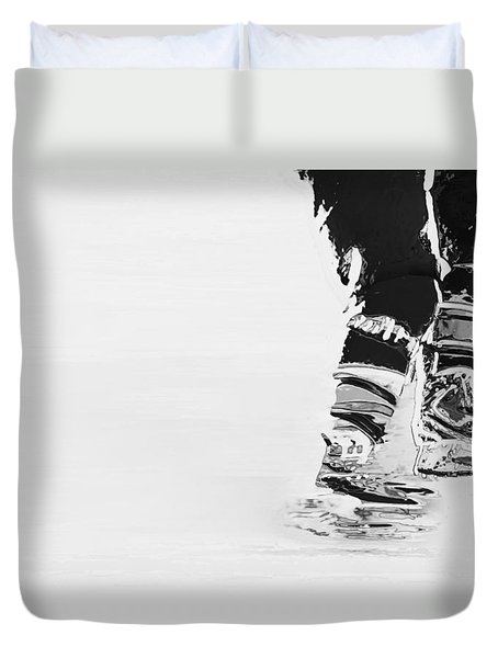 Becomes The Ice Duvet Cover by Karol Livote
