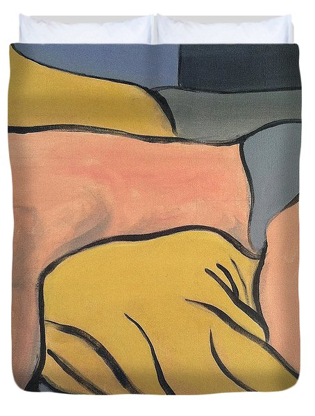 Bedscape One Am Duvet Cover by Stan  Magnan